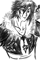 Squall Leonhart sketch by Ecumeless