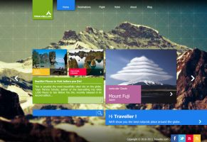 Travellia front page by w4y