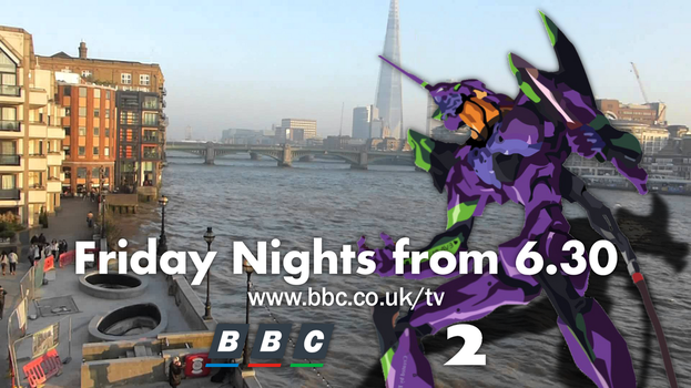 BBC Two Cult Advert with Evangelion 01 by PeachLover94