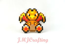 ~Pokemon Charizard Perler Bead Art~ by aselga