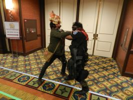 Anime Los Angeles 2015 Clicker vs BSAA by Demon-Lord-Cosplay