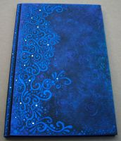 Midnight Blue Painted Journal by MandarinMoon