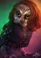 The Owlvengers - Black Widowl by 4steex