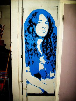 Ian Gillan Wallpainting by Burkpuk