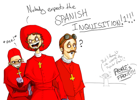 NOBODY EXPECTS... by rag-dolly-anne