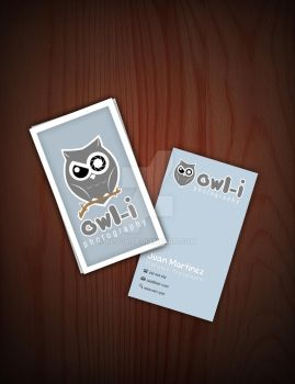 Owl-i Business Cards by blo0p