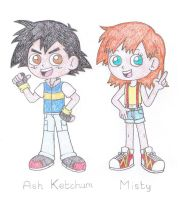 Ash and Misty - My Version by TheAwesomeWorld