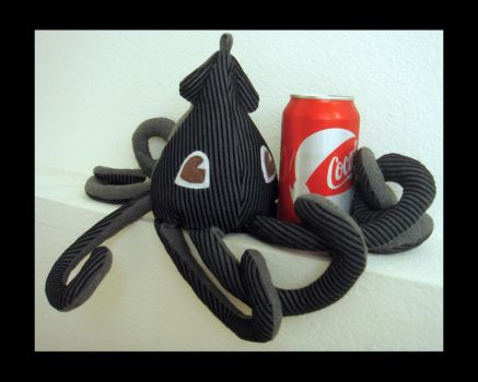 Black Gray Squid Plush 7 by TheCurseofRainbow