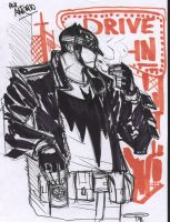 Batman Rockabilly - sketch by DenisM79