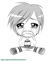 Chibi crying Eren (sketch) by SakuraAlice33