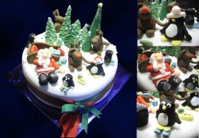 Christmas cake by InvisibleSnow