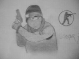 Counter Strike [Game cover drawing] by Danchix