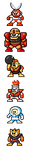 "MegaMan ""Sprites""-Bosses of 1 by WaneBlade"