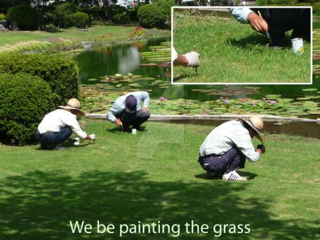 Painting the grass by baby-sapphire-dragon