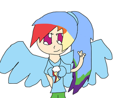 Rainbow Dash as a human by Barry-Rose