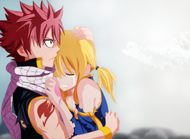 Fairy Tail Movie - Natsu and Lucy by MarionSama