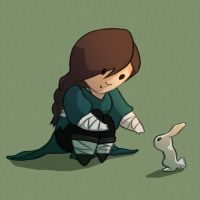 Aris and The Bunny by mirics