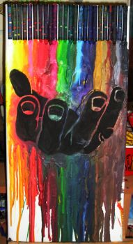 melted crayons and hand 2 by pinata2009