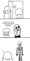 Undertale Comic - Frisk Showing Sans Their School by PrincessRobocop