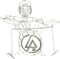 Rob Bourdon on Drums by JulianaSousa