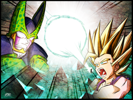 Cell vs Gohan by R-no71