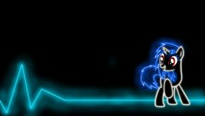 Vinyl Scratch / DJ Pon-3 Glow Wallpaper by Stollen99