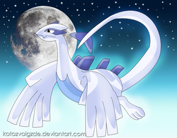 Lugia in night sky by Katazvaigzde