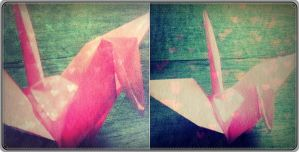 Pink Origami by PiwyLullaby