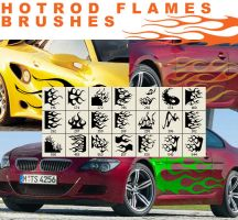 hotrod flames brushes by guska076