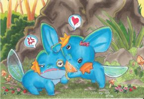 Mudkip Collaboration with Karen by OldSophie