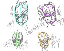 Painstrike Head Designs by Twilightzonegirl13