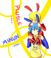 AoH - Plusle and Minun by phantato
