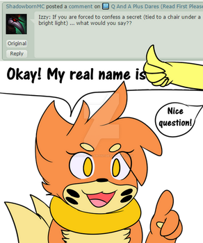 Izzy: My Real Name by Zander-The-Artist