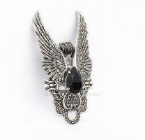 Dark Angel Pendant Jet Crystal by Aranwen