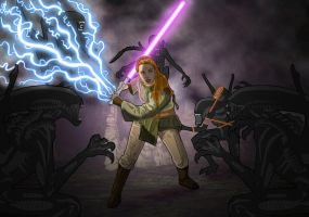 Jaina Solo's Xenomorph encounter 2 by chainedname