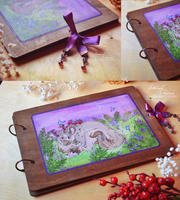 Lavender woodbook auction by orum-the-cat