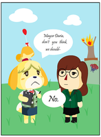 Daria in Animal Crossing by 0Box-Ghost0