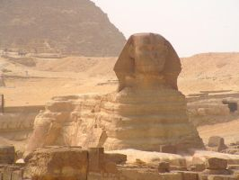 Sphinx Giza Egypt by Jenvanw