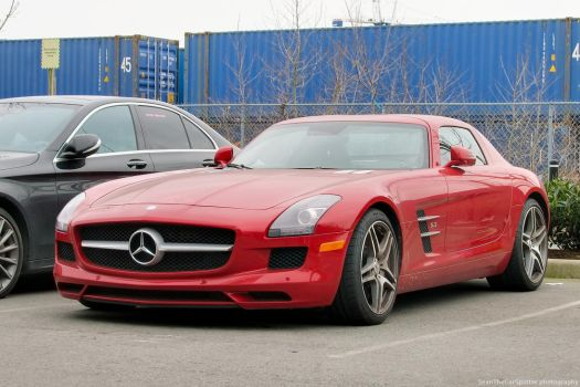 Red SLS AMG by SeanTheCarSpotter