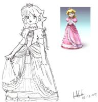 Princess Peach's Brawl by Jago-Mizukami