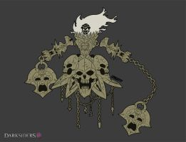 :Darksiders 3 - Fury Chaos Form Concept: by Lorddragonmaster
