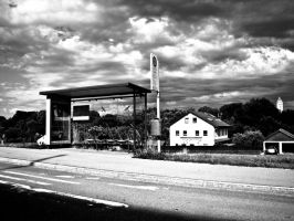 The bus stop at my house by SteffenHa