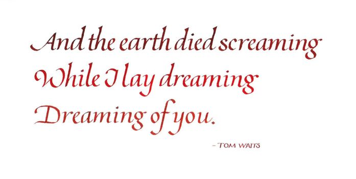 Tom Waits - Earth Died Screaming by MShades