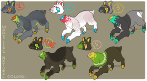 Adoptables- OPEN 3/5 by Simonetry
