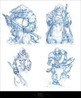 Sketches Characters  By Kashivan by Kashivan