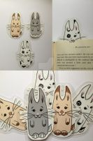 Nom-Bunnies Bookmarks by blue-but-beautiful