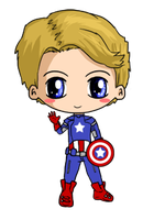 Captain America Chibi by IcyPanther1