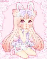 Bunny Kitten by myaoh