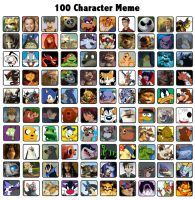 100 Character Meme by t-bone-0