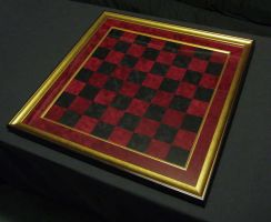 Red and Black Chessboard by CrazyChucky